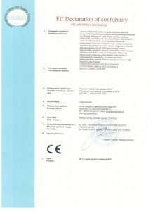 Сертификат СЕ на сепараторы ИСМ